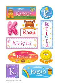 Krista, nombre para stickers