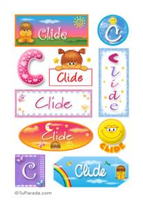 Clide, nombre para stickers