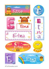 Etna, nombre para stickers
