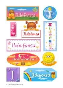 Ildefonsa, nombre para stickers