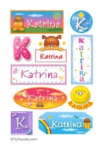 Katrina, nombre para stickers