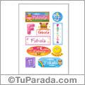Fabiola, nombre para stickers