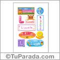 Lizzete, nombre para stickers