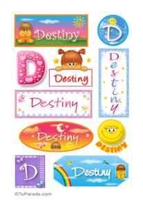 Destiny, nombre para stickers