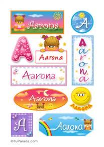 Aarona, nombre para stickers