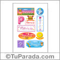 Patricia, nombre para stickers