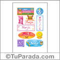 Narjis, nombre para stickers