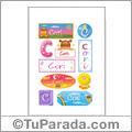 Cori, nombre para stickers