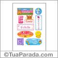 Estelle, nombre para stickers