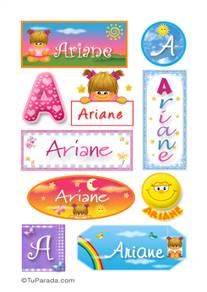 Ariane, nombre para stickers