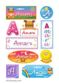Amaru, nombre para stickers