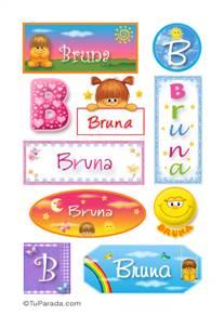 Bruna, nombre para stickers