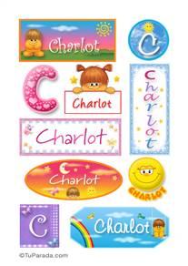Charlot, nombre para stickers