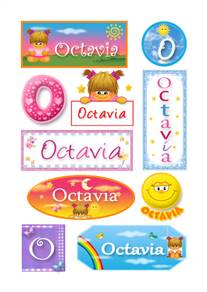 Octavia, nombre para stickers