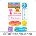Tiziana, nombre para stickers