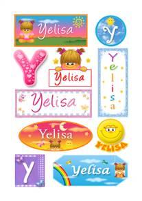 Yelisa, nombre para stickers