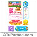 Keimy, nombre para stickers