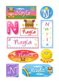 Nayla, nombre para stickers