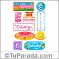 Eskarlyn, nombre para stickers