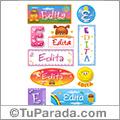 Edita, nombre para stickers