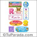 Rocío, nombre para stickers