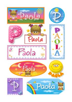 Paola, nombre para stickers