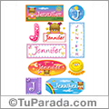 Jennifer, nombre para stickers