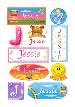 Jessie, nombre para stickers