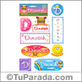 Dinorah, nombre para stickers