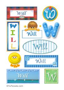 Will - Para stickers