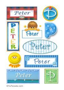 Peter - Para stickers