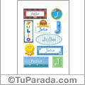 Julio - Para stickers