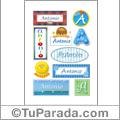 Antonio - Para stickers