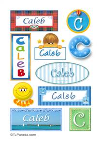 Caleb - Para stickers