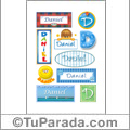 Daniel - Para stickers