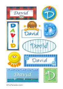 David - Para stickers
