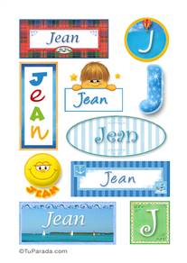 Jean - Para stickers
