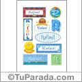 Rafael, nombre para stickers