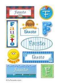 Fausto, nombre para stickers