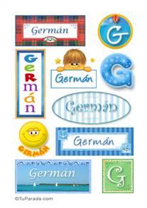 Germán, nombre para stickers