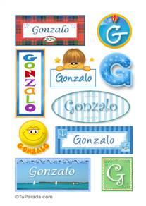 Gonzalo, nombre para stickers