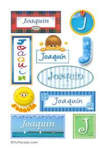 Joaquín, nombre para stickers