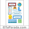 Leonel, nombre para stickers