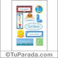 Luciano, nombre para stickers