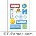 Mauricio, nombre para stickers