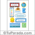 Esteban, nombre para stickers
