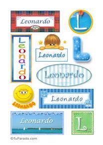 Leonardo, nombre para stickers