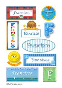 Francisco, nombre para stickers