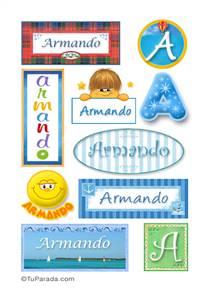 Armando, nombre para stickers