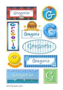 Gregorio, nombre para stickers